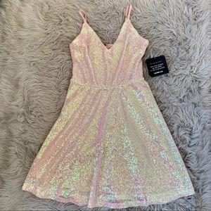 Charlotte Russe: Pink Matellic Dress
